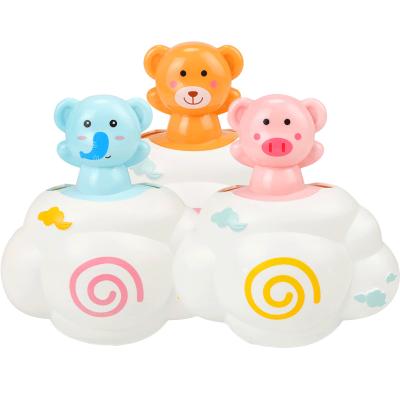 【云朵花灑-顏色隨機1只】兒童洗澡戲水玩具云朵下雨嬰幼兒小豬云朵花灑寶寶洗澡趣味玩具寶寶室內沐浴花灑卡通家用男孩女孩小孩