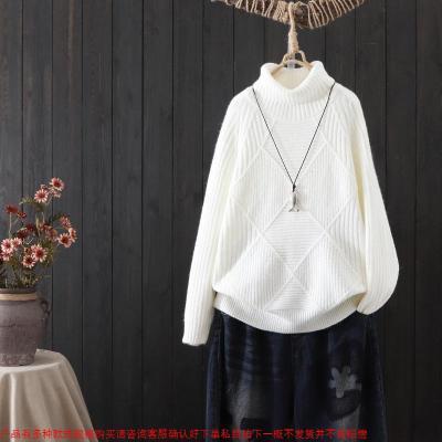 毛衣女高领针织衫打底衫秋冬新款宽松韩版休闲保暖毛衣百搭外穿女
