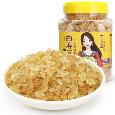 百壽元黃冰糖廣西甘蔗榨汁凝結多晶冰糖小顆粒方便取用1.2kg/瓶