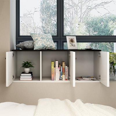 飄窗柜定制陽臺柜窗邊落地柜簡易自由組合矮柜子儲物柜簡約現代定制 長40深40高40單門