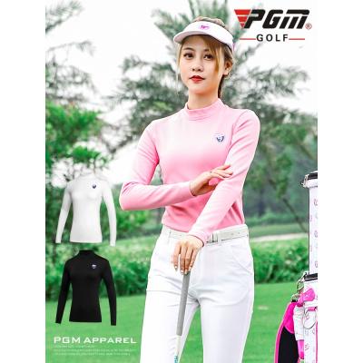加絨版高爾夫打底衫 女士秋季上衣保暖女裝衣服
