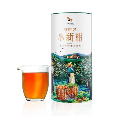 八馬茶葉 小青柑 新會柑普茶普洱熟茶茶葉 圓罐裝80克