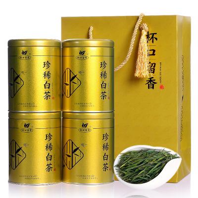 4罐装白茶礼盒 杯口留香白茶 正宗安吉原产茶叶 正宗春茶送礼袋