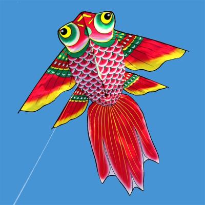 濰坊風箏_金魚風箏_紅色金鯉魚風箏_2米1.5米__喜慶好飛