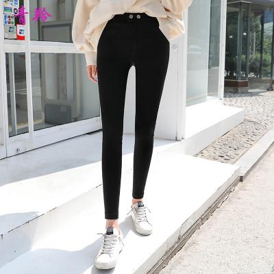 青羚2020春裝黑色打底褲女薄款顯瘦褲子女黑褲鉛筆魔術褲女