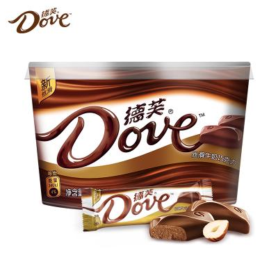 德芙巧克力碗裝絲滑牛奶巧克力252g碗裝送女友巧克力