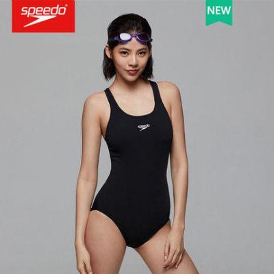 speedo速比濤泳衣女游泳運動時尚連體泳衣顯瘦遮肚保守溫泉泳衣