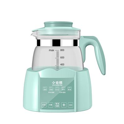 小壯熊,XIAOZHUANGXIONG恒溫調奶器 嬰兒恒溫水壺 寶寶多功能玻璃燒水壺800普通綠