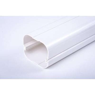 帮客材配 三套车加厚PVC材质1-3匹空调专用装饰管槽白色KS7565-A零件 直管 10元/米