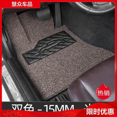 汽車腳墊絲圈單片前排司機位座正單個主駕駛地毯式專用腳踏通用 主駕駛米棕色(留言車型)防滑底