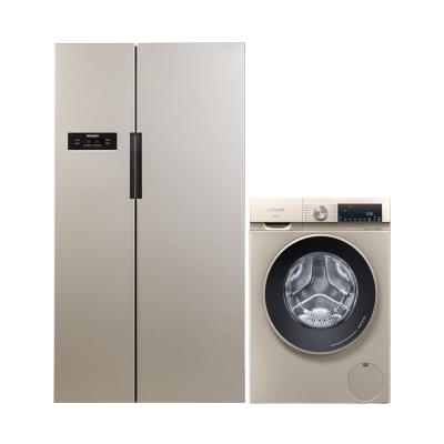 【KA92NV03TI+WN54A2X30W 】西門子610升風冷無霜對開門冰箱+10公斤洗烘干一體滾筒洗衣機