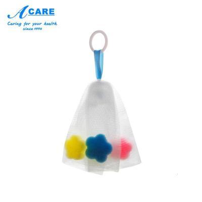 艾呵acare起泡網洗面奶搓手工香皂打泡器泡沫潔面肥皂沐浴棉網泡袋子洗臉部專用海綿小號1個