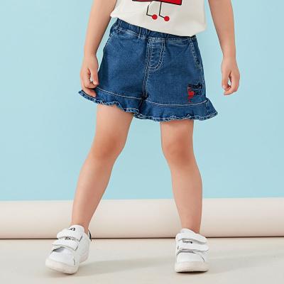 青蛙皇子童裝女童牛仔短裙棉彈夏裝洋氣百搭小童