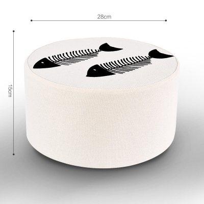 圆形榻榻米坐垫飘窗地板坐垫禅修打坐拜佛垫加厚北欧棉麻 20公分高鱼刺 北欧风格