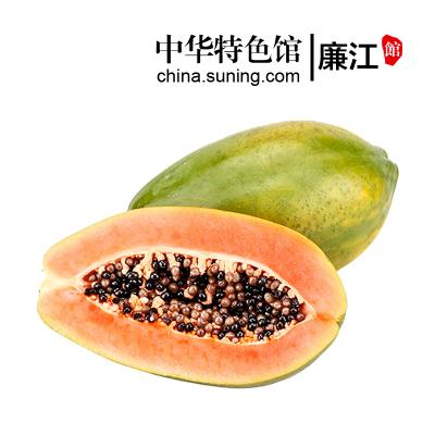 【中华特色】廉江馆 广东冰糖牛奶红心木瓜 2.5kg箱装 热带时令水果 华南