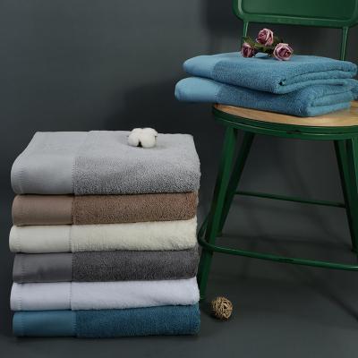 四季宣言酒店浴巾全棉柔軟強吸水舒適加大加厚純色大號毛巾成人男女家用800克嬰兒裹巾