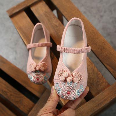 BPMA漢服鞋子兒童女童繡花鞋女古裝手工復古漢鞋棉鞋中國風老北京布鞋
