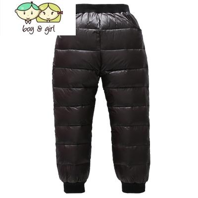 兒童冬季童裝加厚外穿男童女童中大童高腰寶寶加絨保暖褲子  喻婁
