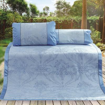 水星家紡 提花冰絲席 涼席席子三件套 床上用品