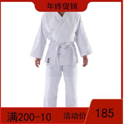 迪卡侬 柔道服加厚标准男女柔道服装新手儿童成人白色比赛衣服