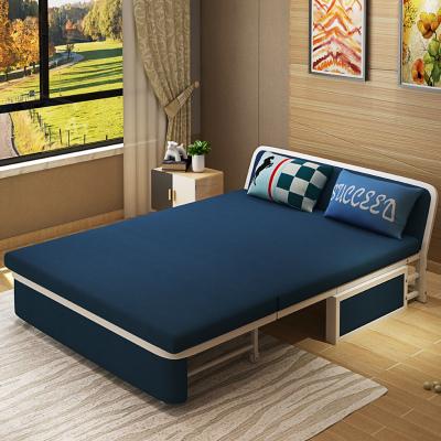 梦引 实木可折叠沙发床1.2/1.5米多功能客厅小户型 双人两用省空间沙发