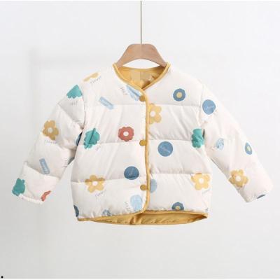 2019新款儿童羽绒内胆马甲男女童白鸭绒长袖外套男女宝宝保暖上衣