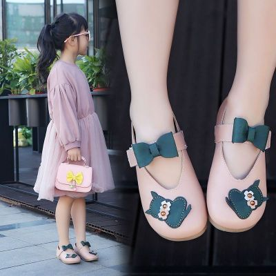 春秋季 新款兒童鞋子女童皮鞋小童單鞋小女孩公主鞋韓版奶奶鞋 莎丞