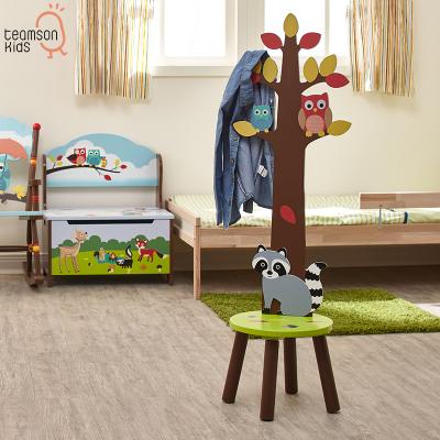 Teamson 紛朵奇寶寶衣帽架落地換鞋小凳子木質簡易卡通魔幻森林系列