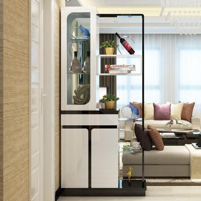 新柜爾(xin gui er furniture) 進門客廳雙面落地式間廳柜現代簡約玄關隔斷柜屏風展示裝飾門廳柜