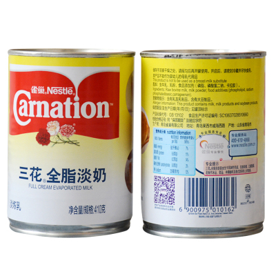 雀巢三花全脂淡奶 沖奶茶調咖啡做甜點 烘焙原料 原裝410克