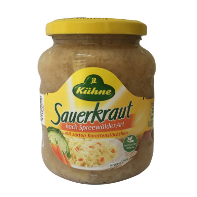 德國冠利(KUHNE)酸椰菜酸菜350g 醬椰菜沙拉面包三明治伴侶西餐原料蔬菜罐頭