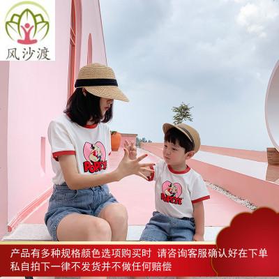 ivan家亲子装夏装母子装卡通短袖t恤网红母女装洋气潮图片件数为展示