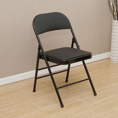 簡易凳子靠背椅家用折疊椅子便攜戶外辦公椅會議椅電腦椅座椅椅子