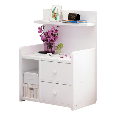 简易床头柜简约现代收纳小柜子储物柜暖兔北欧卧室小型床边柜经济型