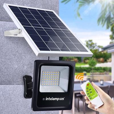 穎朗太陽能燈戶外庭院路燈新農村別墅家用防水50W投光燈