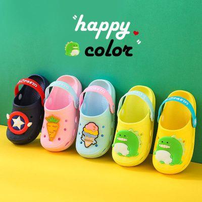 寶寶小童洞洞鞋兒童拖鞋夏男童女童嬰兒幼兒防滑軟底室內包頭涼拖