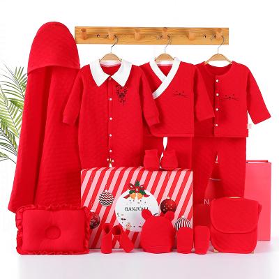 加厚嬰兒禮盒套裝送禮純棉新生兒衣服秋冬剛出生寶寶滿月套裝禮盒