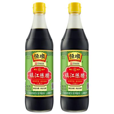 恒順 鎮江陳醋500ml*2 釀造食醋 固態發酵