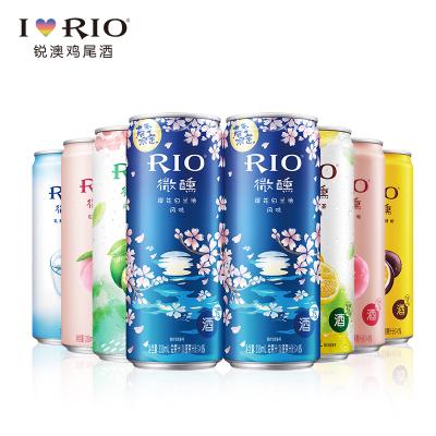 【酒廠自營】RIO銳澳櫻花青金橘烏龍檸檬紅茶百香果白桃乳酸菌330ml*8罐