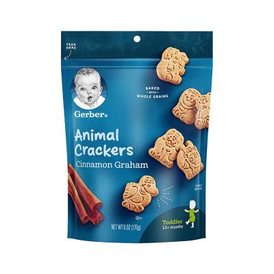 嘉寶(Gerber)肉桂全麥動物餅干 170g/袋裝 原裝進口 12個月以上