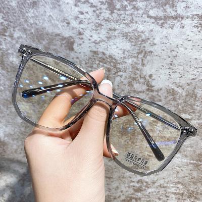 防藍光輻射電腦護目近視眼鏡女潮眼睛框鏡架女大臉可配有度數