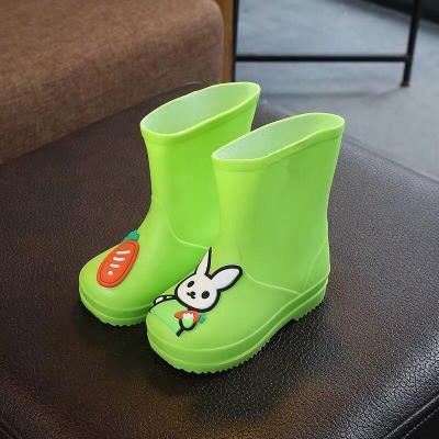 中大童雨鞋可愛卡通輕便玩沙鞋寶寶雨靴防滑水鞋幼兒園小學生