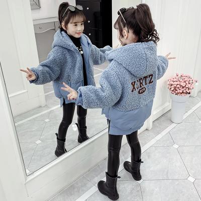 女童羽絨服冬裝兒童保暖棉衣新款韓版中大童女孩毛絨棉襖棉服凝驄