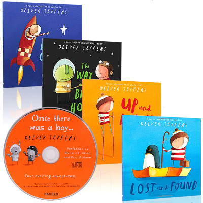 @Oliver Jeffers 智慧小孩 亲子绘本4本 英文原版绘本 Lost and Found,Up and D