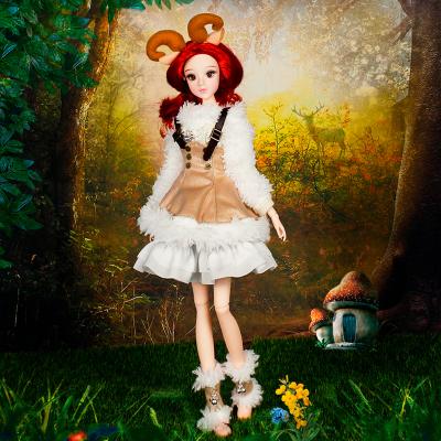 德必勝 芭比娃娃玩具套裝大禮盒 十二星座娃娃巴比公主洋娃娃仿真動漫關節娃娃手辦 12星座 白羊座 34CM/6分娃