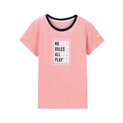 361°兒童女童中大童時尚休閑百搭短袖T恤 甜美舒適款短袖T恤