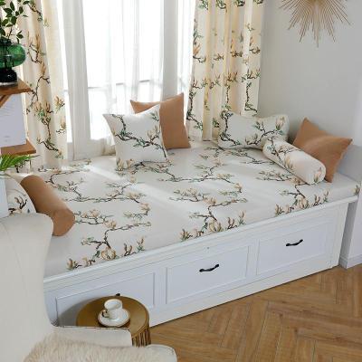 BONJEAN高密度海綿花色飄窗墊窗臺墊定做沙發墊窗臺榻榻米卡座定制歐式
