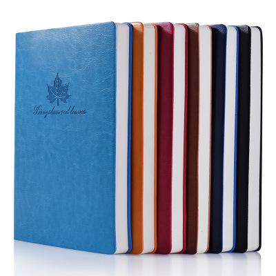 正彩 日记本4302-1 A5系列 简约复古 笔记本子 记事本 加厚商务会议 记录本 橙色浅蓝色深蓝色棕色酒红色黑色