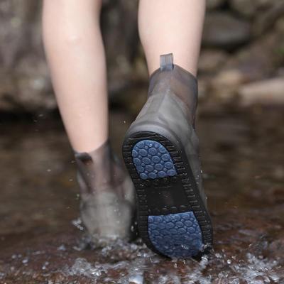 雨鞋防水套耐磨防滑加厚下雨鞋子套雨靴套水鞋女男時尚兒童雨鞋套臻依緣