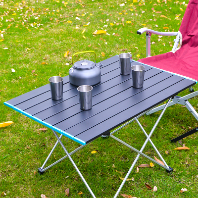 超輕全鋁合金戶外折疊小桌子便攜式燒烤野營擺攤桌椅套裝車載裝備